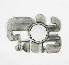 Donald Drumm, Cast Aluminum Mirror, c1960.