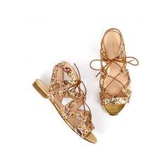 Sandale BANKABLE Or - Sandales plates - Chaussures Printemps-Eté - NOUVELLE CO'