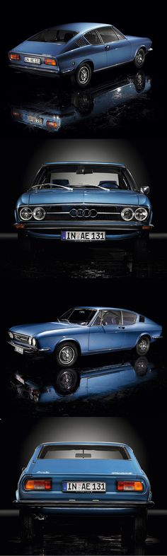 1970 Audi 100 Coupé S / blue / Germany / photography: Pedro Mota / 17-311