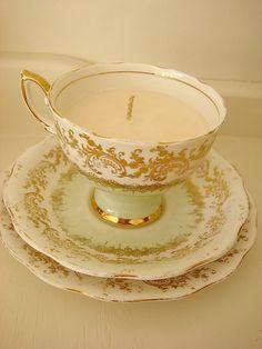 DIY:: Teacup candle