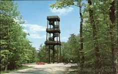 Tower in the Peninsula State Park in Fish Creek Wisconsin. Beautiful view from the peninsula.