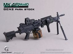 1:6 CRAZY DUMMY MK 46 MOD0 GEN2 Para Stock NIB for Action Figure Military Training, Military Gear, Military Weapons, Military Aircraft, Weapons Guns, Guns And Ammo, Light Machine Gun, Machine Guns, Arsenal