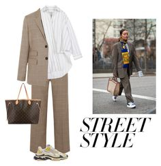 """""""Fashion Week Street Style: Dad Sneakers"""" by jasminejenai ❤ liked on Polyvore featuring rag & bone, Balenciaga and Louis Vuitton"""