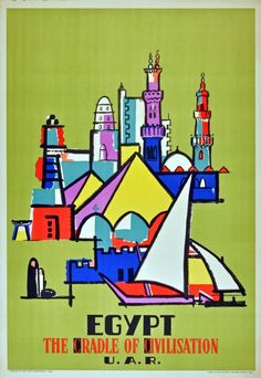 TX168 Vintage Egypt Airline Airways Travel Tourism Art Poster Re-print A3//A4