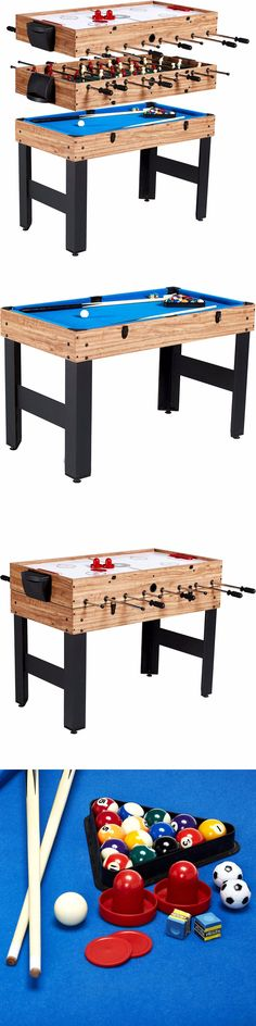Tables 97075: Pool Table Air Hockey Foosball New 48 3?In?1 Multi
