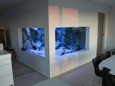 aquarium mural pas cher pour les murs dans la salle de sejour