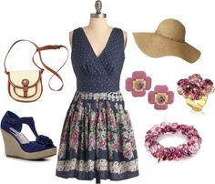 """Flower Dress"" by yellowbells on Polyvore"