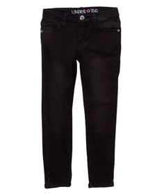 This Black Straight-Leg Jeans - Toddler & Girls by Limited Too is perfect! #zulilyfinds