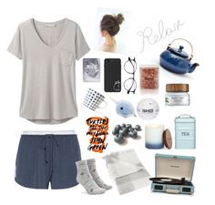 """""""Tranquility"""" by dayna-eichenser ❤ liked on Polyvore featuring West Elm, DKNY, prAna, Farmacy, Forever 21, Ray-Ban, Kitchen Craft, PBteen, FlashPoint Candle and Crosley Radio & Furniture"""