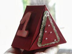 Stampin´up mit Stempelmariposa: Adventskalender. Tutorial triangle box