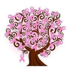Breast cancer ribbon tree