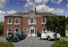Frontage all dressed up and ready to go. The gorgeous car on the left is a 1932 Lagonda and the one on the right a 1954 Rolls Royce - perfect for the bridal party High Walls, Wedding Fair, Private Garden, House Party, Beautiful Landscapes, Countryside, House Styles, Holiday, Rolls Royce