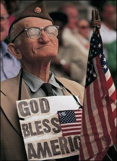 God Bless America!! He gets it because he fought for it, our freedom!! Beeskneesvintagegarden