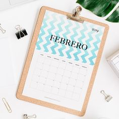 calendario 2019 febrero Calendar 2019 Printable, Print And Cut, Projects To Try, Notebook, Bullet Journal, Pattern, Journal Ideas, Joker, Templates