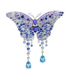 van cleef arpels papillon 3. As far as necklace are concerned, the Blumei (above) comprises diamonds, sapphires and aquamarines (which closely resemble the ...