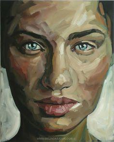 Belinda Eaton Painting- Brush strokes aren't blended