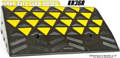 heavy duty rubber curb ramp