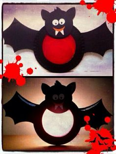 Vleermuislampion (van kartonnen bordjes)...