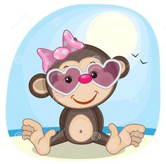 Find Cute Monkey Girl Sunglasses stock images in HD and millions of other royalty-free stock photos, illustrations and vectors in the Shutterstock collection. Free Monkey, Monkey Girl, Jungle Animals, Baby Animals, Cute Animals, Cute Images, Cute Pictures, Monkey Illustration, Animal Cutouts