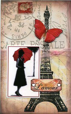 The Eiffel Tower, Paris, France. Vintage Paris, Vintage Retro, Paris Decor, Paris Theme, Thema Paris, Paris Cards, Red Umbrella, Paris Ville, I Love Paris