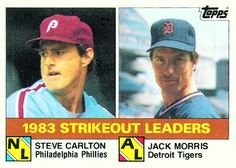 Jack Morris 1983 Strikeouts Leaders Card 1984 - Topps  Card Number: 136