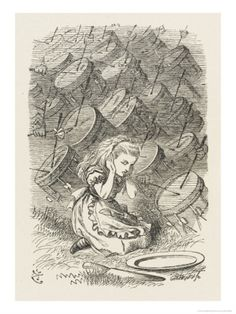 Drums Alice Covers Her Ears to the Sound of the Drums Giclee Print by John Tenniel at Art.com