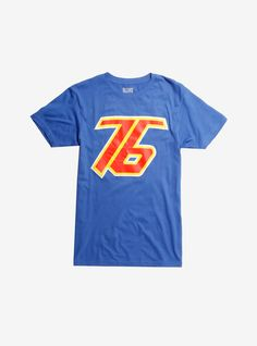 We're all soldiers now.   Royal blue T-shirt from Blizzard's  Overwatch  video game with a Soldier: 76 character logo design featured on the front.  Overwatch  logo tag print is located on the back.  100% cotton  Wash cold; dry low  Imported  Listed in men's sizes