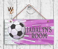 Soccer Sign Sports Girls Room Sign Personalized by WoodlandCrew