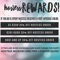 Book an online FB party or Live Demo!  Earn free LipSense and great discounts!!  Contact me today!  @laliplounge on Facebook (The LIP LOUNGE) Distributor#191638 #beauty