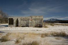 Fixer-upper.    Abandoned auto shop in Arroyo Hondo, New Mexico.