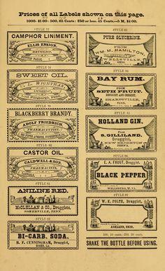 free printable old bottle labels, vintage printable Papel Vintage, Vintage Paper, Vintage Labels, Vintage Ephemera, Printable Vintage, Vintage Signs, Vintage Ads, Printable Labels, Free Printables