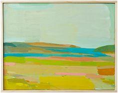Pt Reyes Spring | Karen Smidth | oil on panel, framed by hand | East Bay, California