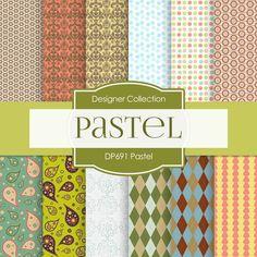 Pastel Digital Paper DP691A - Digital Paper Shop - 1