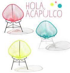 neon acapulco chairs