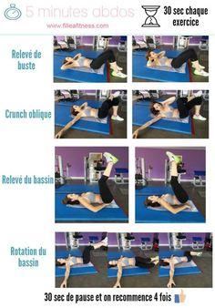 5 minutes abdominaux débutante - Fille à fitness