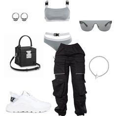 Like my look? Tag someone who would wear it. Swag Outfits For Girls, Cute Swag Outfits, Cute Comfy Outfits, Teenager Outfits, Edgy Outfits, Teen Fashion Outfits, Retro Outfits, Mode Style, Polyvore Outfits