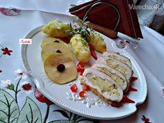 Morčacie prsia plnené jablkami a syrom (fotorecept) Baked Potato, Sushi, Pancakes, Potatoes, Ale, Meat, Baking, Breakfast, Ethnic Recipes