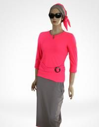 Front-coral dream 2 pieces modest swimwear