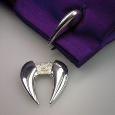 Fang Silver Cufflinks ~ Design by Stephen Einhorn