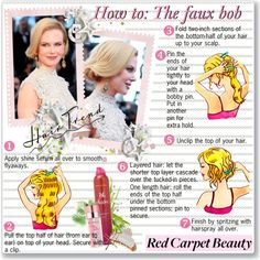 How to: The faux bob, created by helleka on Polyvore