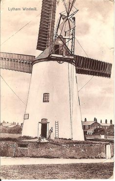 Great RP card Scene at Lytham Windmill prior to the Disaster, sent in 1912   eBay