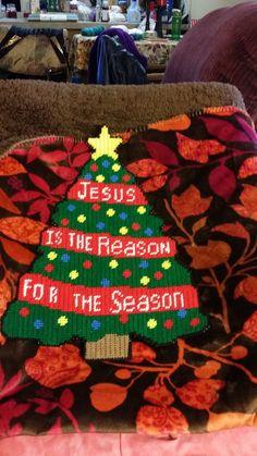 Jesus is the Reason for the Season Plastic by BevysPlasticCanvas