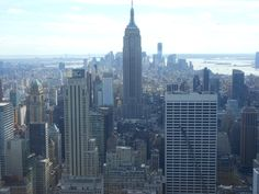 Another stunning view from the top of Rockefeller Center. Love the Empire State Building!