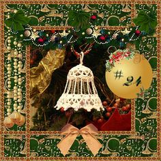 Crocheted Christmas Bell Ornament  Lace Bell by SoigneeInCrochet, $9.00