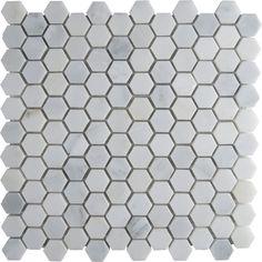 "MSI Arabescato Carrara 12"" x 12"" Hexagon & Dot Tile in Mosaic & Reviews | AllModern"