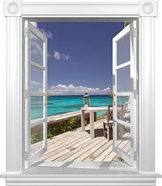 Caribbean View Window Mural