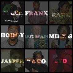 odd future wolf gang, kill them all Syd Tha Kyd, Hodgy Beats, Odd Future Wolf Gang, Hip Hop Instrumental, Earl Sweatshirt, Alondra, Aleta, Tyler The Creator, Frank Ocean