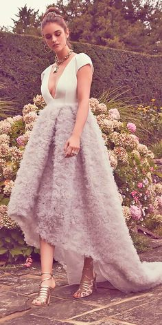 Top 24 High Low Wedding Dresses ❤ See more: http://www.weddingforward.com/high-low-wedding-dresses/ #wedding