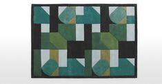 Merida Hand Tufted Wool Rug 170 x 240cm, Green Mix | MADE.com