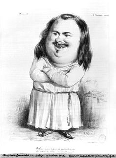 Caricature de Balzac, du Charivari.